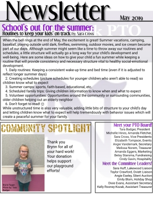 PTO Newsletter Page 1 for web